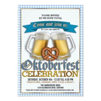 För firandeparty för oktoberfest årliga 12,7 x 17,8 cm inbjudningskort