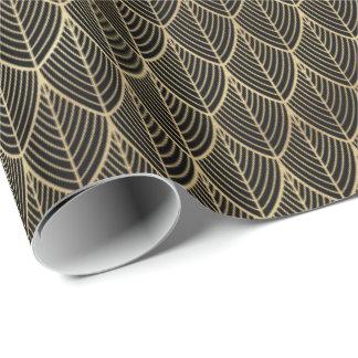 För fjällkammussla för art déco guld- elegantt presentpapper