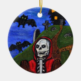 För fladdermössgravstenar för grym Reaper skelett- Julgransprydnad Keramik