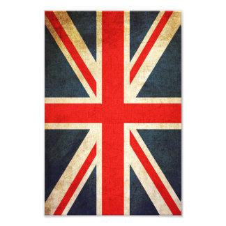 För flaggafoto för Retro facklig jack brittiskt Fototryck