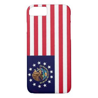 För flaggaiPhone 7 för amerikan mexicanskt fodral