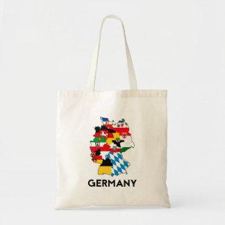 för flaggakarta för tysklant land politiskt budget tygkasse
