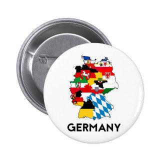 för flaggakarta för tysklant land politiskt standard knapp rund 5.7 cm