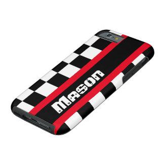 För flagganamn för tävlings- auto sportar rutig tough iPhone 6 skal