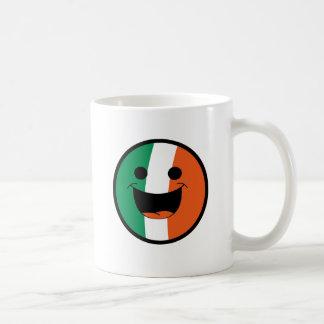 För flaggasmiley face för DIY St Patrick irländsk Kaffemugg