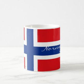 För flaggasouvenir för norge norsk mugg