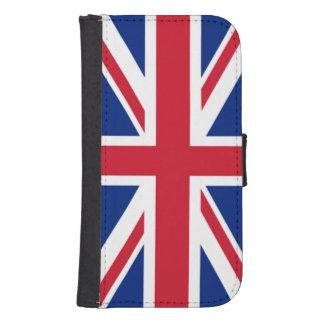 För flaggatelefon för facklig jack brittiska samsung s4 plånboksfodral