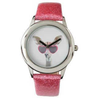 För flickaunge för förtjusande antilop gulligt armbandsur