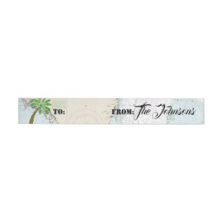 För Florida för tropisk palmträd märkre nautiska Etikettband