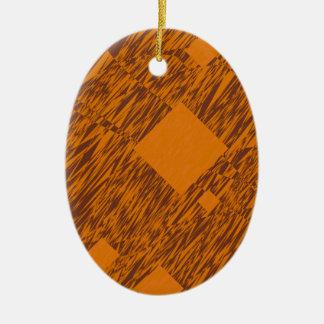 För flöteabstrakt för orangen boxas den vakna julgransprydnad keramik