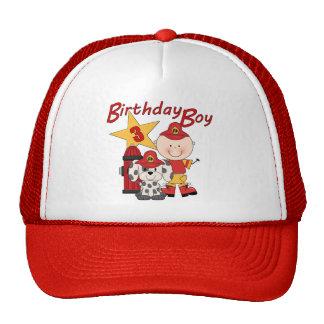 För födelsedagbrandman för pojkar 3rd födelsedag trucker keps