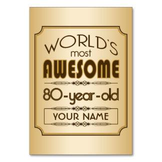 För födelsedagfirande för guld bäst sagolikt för 8 bordsnummer