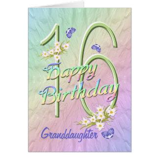 För födelsedagfjäril för sondotter 16th kort för
