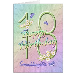 För födelsedagfjäril för sondotter 18th kort för