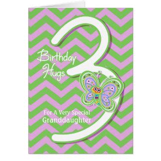För födelsedagfjäril för sondotter 3rd kramar hälsningskort