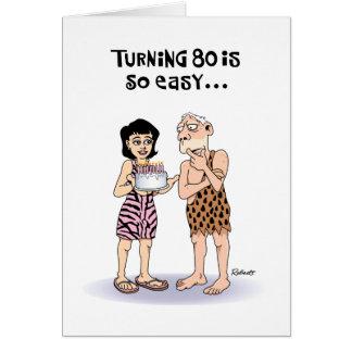 För födelsedaghälsning för farfar 80th kort