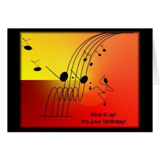 För födelsedaghälsning för musik themed kort