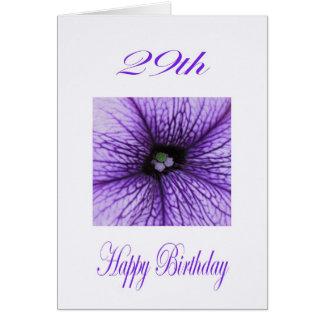 För födelsedaglilor för lycklig 29th blommar hälsningskort