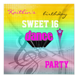För födelsedagmusik för inbjudan sött 16th party
