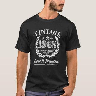 För födelsedagordstäv för vintage 1968 50th t-shirts