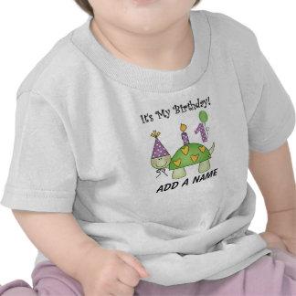 För födelsedagpersonlig för sköldpadda 1st Tshirt T-shirt