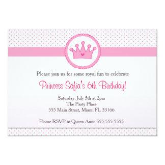 För födelsedagsfestrosor för Princess Inbjudan