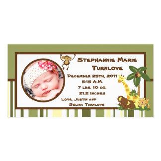 för födelsemeddelande för foto 4x8 babyar för fotokort