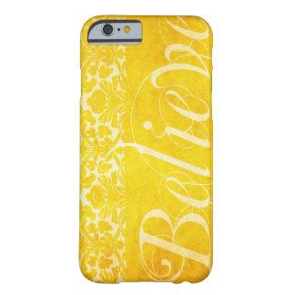 För fodraliPhone 6 för vintage tro gult damastast Barely There iPhone 6 Skal