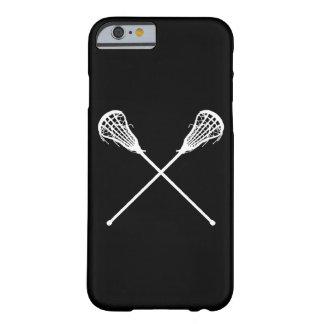 för fodralLacrosse för iPhone 6 svart för pinnar Barely There iPhone 6 Fodral