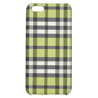 för fodrallimefrukt för iPhone 4 grönt/svart plädm iPhone 5C Mobil Fodral