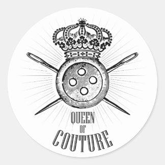 För folk som älskar sömnad: Drottning av Couture Runt Klistermärke