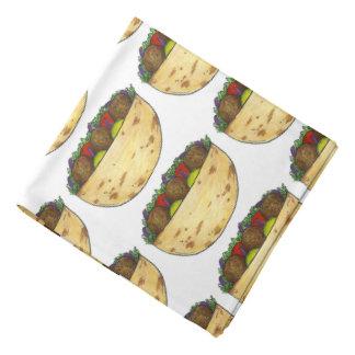 För Foodie för mönster för Falafelsmörgåstryck Scarf