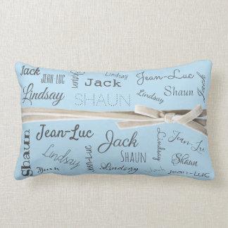 För för barnbarnnamn för farmor | Collage Lumbarkudde