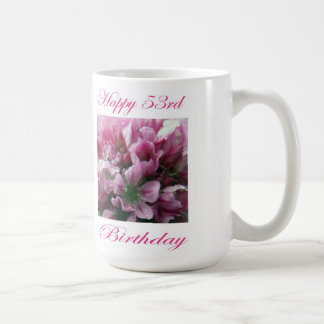 För för födelsedagrosor och grönt för lycklig 53rd kaffemugg