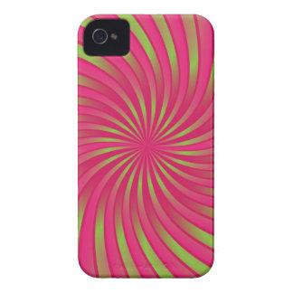 för för fodralgrönt och korall för iPhone 4 spiral Case-Mate iPhone 4 Fodral