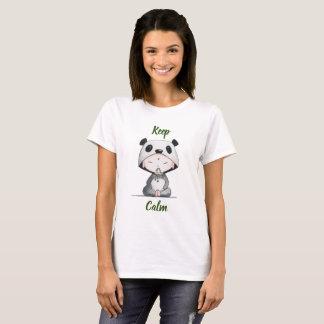 För //för Kawaii-//behållalugn öron Panda Tee Shirt