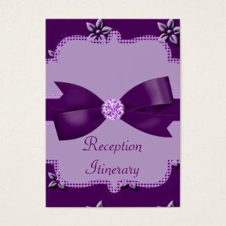 För för öblommor & Rhinestones för plommon Visitkort