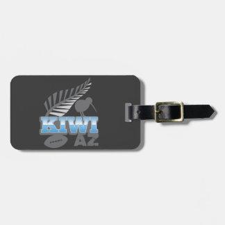 För för rugbyfågel och silver för KIWI AZ Bagagebricka
