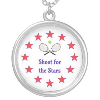 For för stjärnatennisen silverpläterat halsband