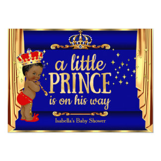 För förhängePrince baby shower för kungliga blått 12,7 X 17,8 Cm Inbjudningskort