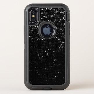 för försvararefodral för iPhone X svart Crystal