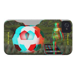 För fotbollflicka för blackberry bold 3D fodral iPhone 4 Case-Mate Cases