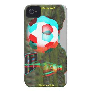 För fotbollflicka för blackberry bold 3D fodral iPhone 4 Cases