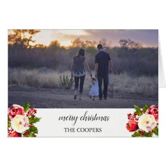 För fotobild för god jul beställnings- kort för