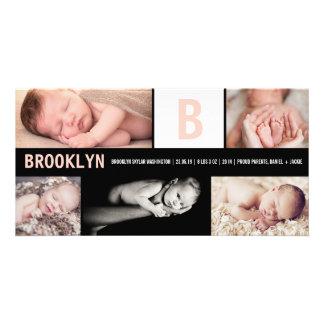 För fotofödelse för baby stort initialt mång- fotokort
