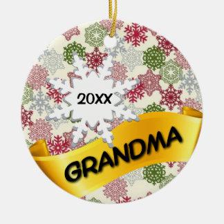 För fotojul för mormor beställnings- prydnad julgransprydnad keramik