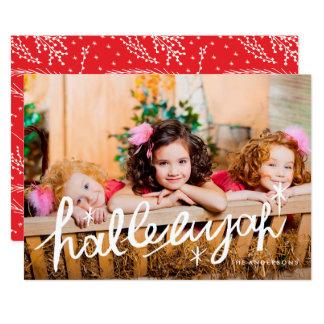 För fotokort för Hallelujah religiös typ för 12,7 X 17,8 Cm Inbjudningskort