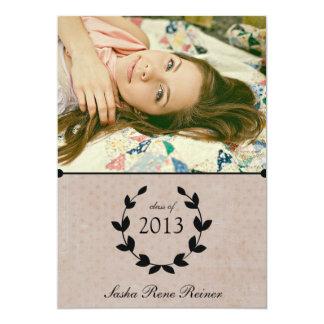 För fotostudenten för kran elegantt kort för 12,7 x 17,8 cm inbjudningskort