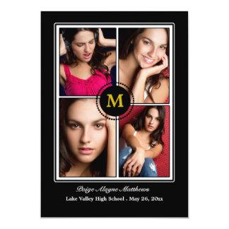 För fotostudenten för Monogram fyra meddelande 12,7 X 17,8 Cm Inbjudningskort