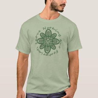 För fotspårgrönt för lämnor ingenting utom känga t shirts